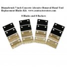 "Diamabrush 7""  Replacement Blades Kit 8 pack Concrete Abrasive Removal Hand Tool"