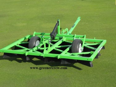 Golf Course Greens Groomer Natural Turf Electric Lift  with Premium Black Brushes
