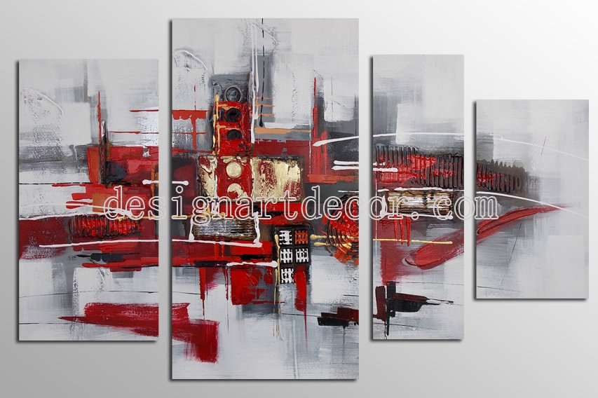 Framed Modern Abstract Oil Paintings On Canvas African Wall Art 100% Hand Painted Artworks OP876