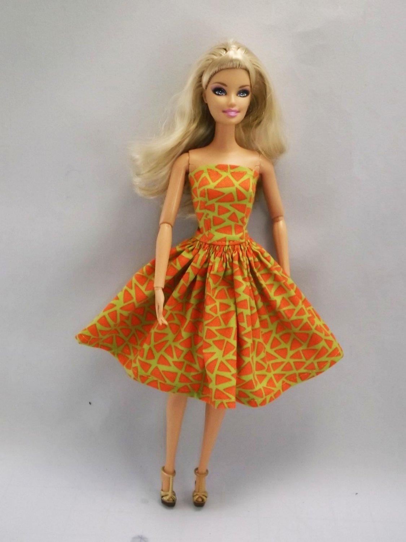 Barbie Clothes Strapless Barbie Dress  11