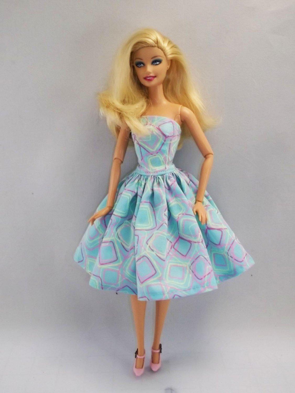 Barbie Clothes Strapless Barbie Dress  14