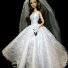 One Shoulder Barbie Wedding Dress Bridal Gown