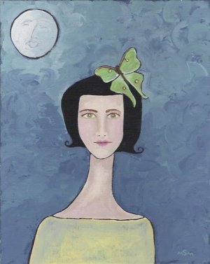 Luna Girl Print by Suzette M. Morgan
