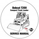 Bobcat Compact Track Loader T200 Service Manual 518915001-516815001-517515001 CD