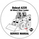 Bobcat All Wheel Steer Loader A220 Service Manual 519611001-519711001 CD