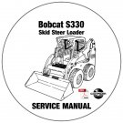 Bobcat Skid Steer Loader S185 Service Repair Manual A3L911001- A3LH11001 CD