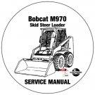 Bobcat Skid Steer Loader M970 Service Repair Manual CD