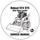 Bobcat Skid Steer Loader 974 975 Service Repair Manual CD