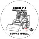 Bobcat Skid Steer Loader 843 Service Repair Manual CD