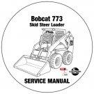 Bobcat Skid Steer Loader 773 Service Manual 509635001-509616001 CD