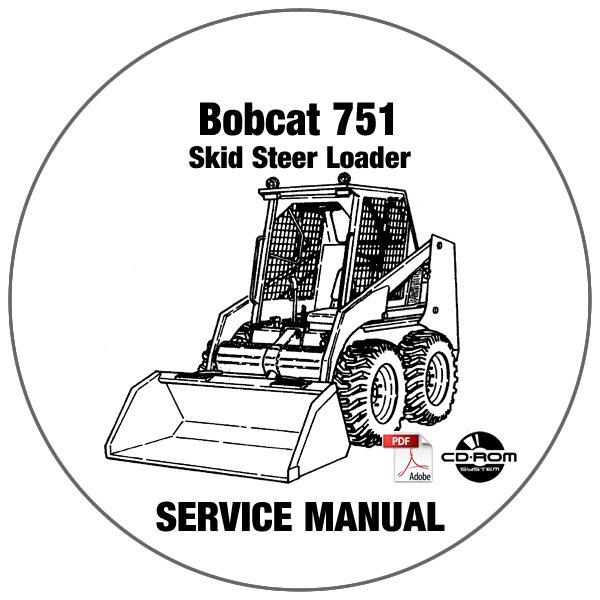 Bobcat Skid Steer Loader 751 Service Manual 515730001-515620001 CD