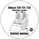 Bobcat Skid Steer Loader 730 731 732 Service Repair Manual CD