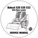 Bobcat Skid Steer Loader 520 530 533 Service Repair Manual CD