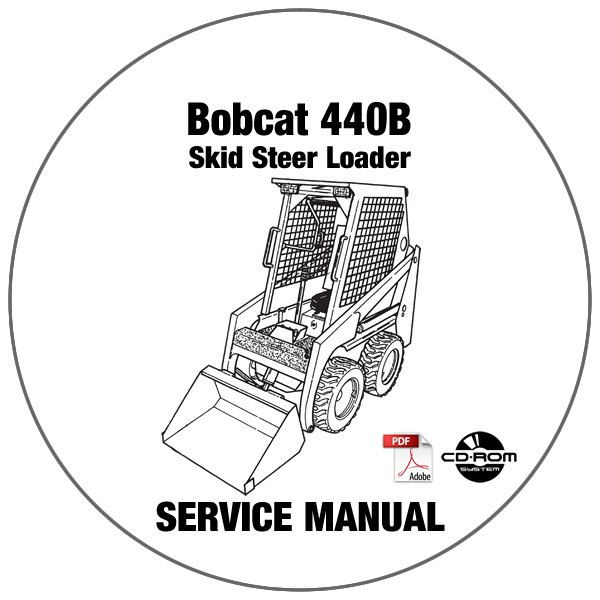 Bobcat Skid Steer Loader 440B Service Repair Manual CD