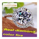 3 CARAT RING GEMSTONES BRIDE & GROOM DIAMOND ENGAGEMENT SETTING ONLY RING SIZE 9