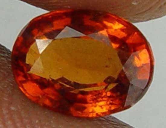 1.95CT 100% Natural Hot Lava Orange Hessonite 09102476