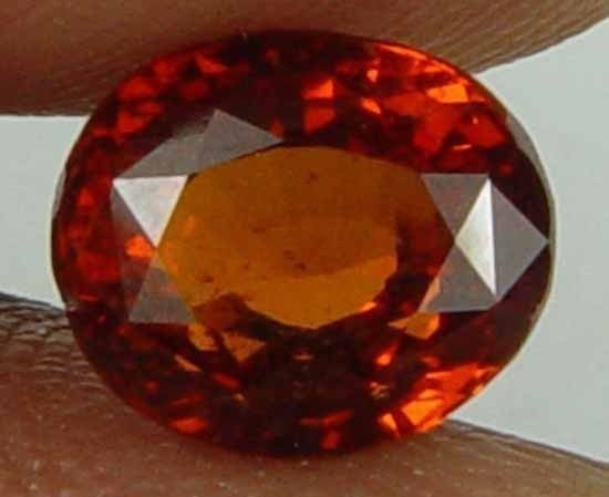 2.30CT 100% Natural Glowing Hessonite Garnet Unheated Loose Gem 09102477