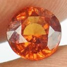 HESSONITE GARNET Natural 1.10 CT 6.19 MM Round Cut Untreated Gemstone 12121155
