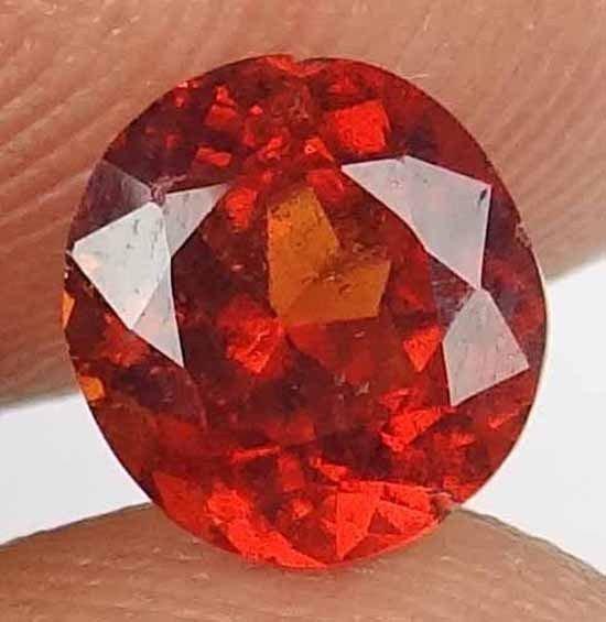HESSONITE GARNET Natural 1.85 CT Great Orange Fire Unheated Gemstone 12121101