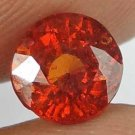 HESSONITE GARNET Natural 2.10 CT 7.25 MM Orange Glow Rare Round Cut Gem 12121130