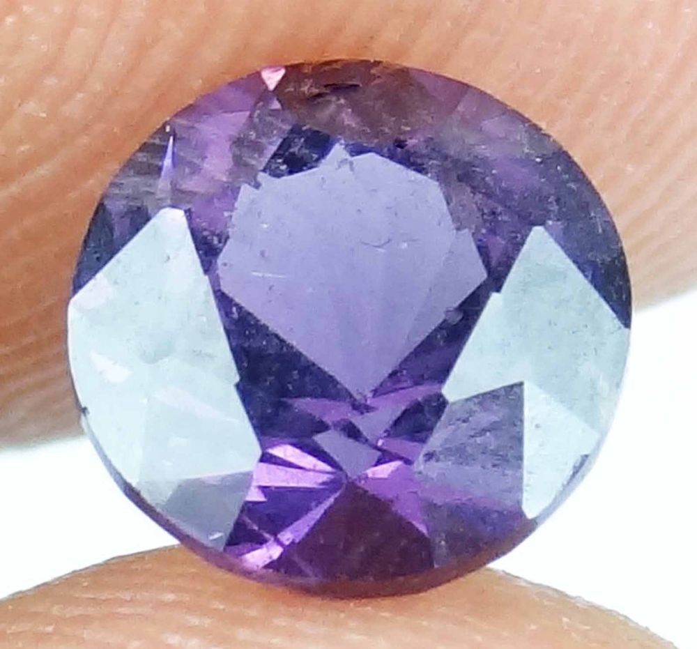 SPINEL Natural 1.95 CT 7.30  MM Rare Round Cut Magenta Purple Gemstone 13071455