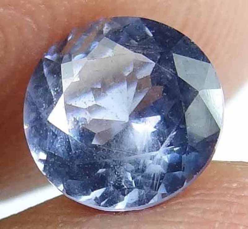 SPINEL Natural 1.25 CT 6.72 MM Beautiful Blue Grey Rare Round Cut Gem 12111876