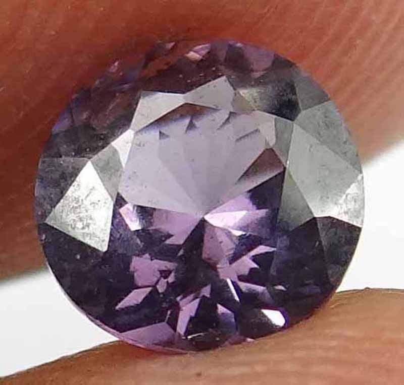 SPINEL Natural 1.05 CT 6.36 MM Purple Color Rare Round Cut Loose Gem 12111889