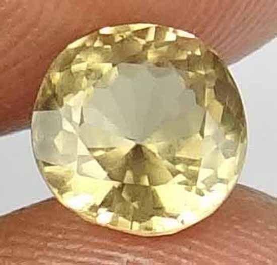 SINHALITE natural 2.35 CT Ultra Rare Specimen Round Cut Yellow Gemstone 12112513