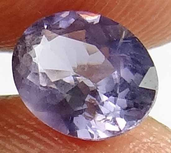 SPINEL Natural 1.30 CT 7.74 X 6.13 MM Purple Gray Color Untreated Gem 12111597