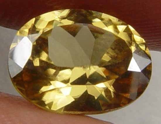 2.15CT Gorgeous Yellow Zircon Great Luster 08030972