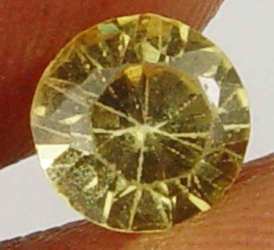 0.80Cts Stunning Glow Rich Yellow Rare Round Cut Natural Chrysoberyl 11052117