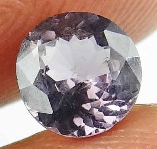 SPINEL Natural 1 CT 6.17 MM Rare Round Cut Purple Color Untreated Gem 13021280