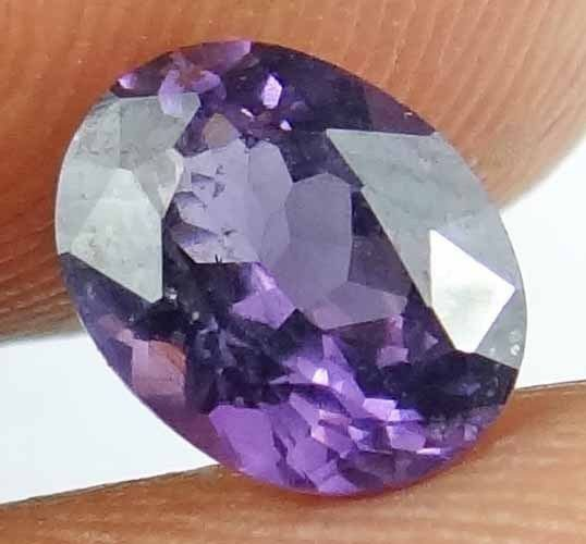 SPINEL Natural 1.4 CT 7.75 X 6.06 MM Oval Cut Gorgeous Purple Color Gem 13022543