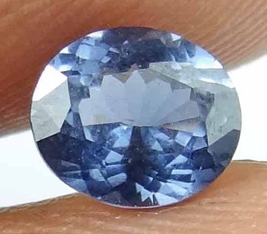 SPINEL Natural 1.0 CT 6.73 X 5.76 MM Nice Blue Color Untreated Gemstone 13022538
