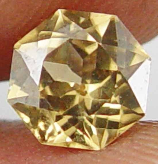 Earth Mined Super Cut Gorgeous Yellow Fire 1.35CT Natural Zircon Gem 11060537