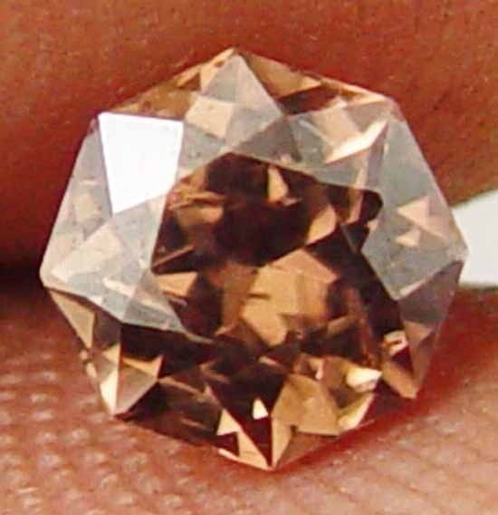 Earth Mined Brown Zircon 1.30CT Impressive Cutting Nice Glow Loose Gem 11060531