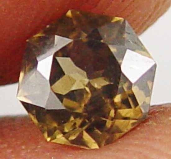 Impressive Unique Octagon Cut 1.15CT Earth Mined Ceylon Zircon Gemstone 11060532