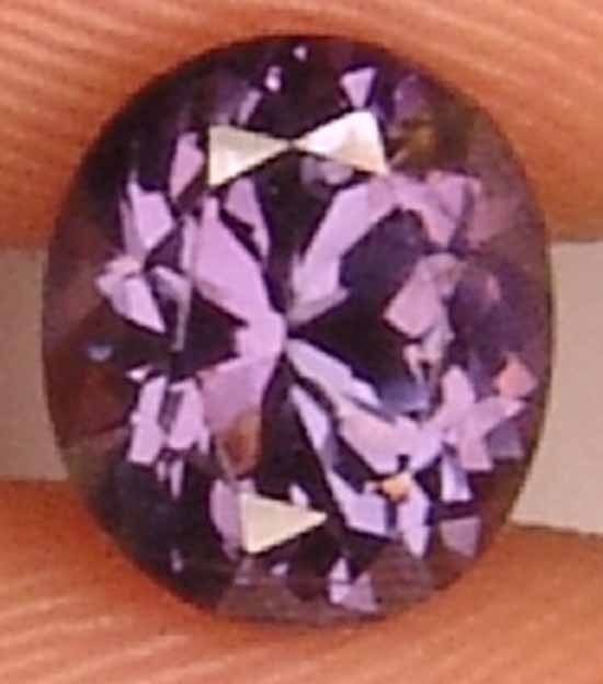 Unheated 1.35Cts Natural Purple Spinel Oval Gem 11060119