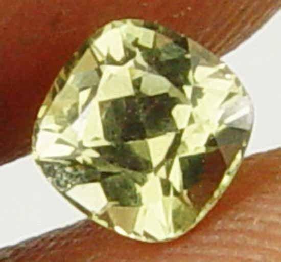 Shimmering Yellow Cushion 0.65Cts Natural Chrysoberyl Loose Gemstone 11052152