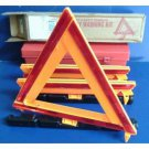 Highway Triangle Emergency Warning Kit 3 Safety Triangles