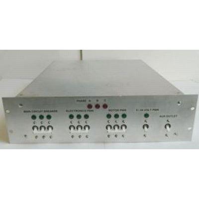 Custom Aluminum Rack Mount Case With 3 Phase Circuit Breakers 2 DIN Rail Mounts