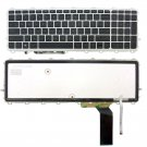 Laptop Replacement Keyboard with Backlit & Silver Frame for HP ENVY 17-j000 17t-j000 series