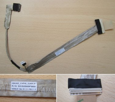 New LCD LVDS Video Screen Cable For Toshiba Satellite A200 A205 A210 A215 Laptop P/N: DC02000F900
