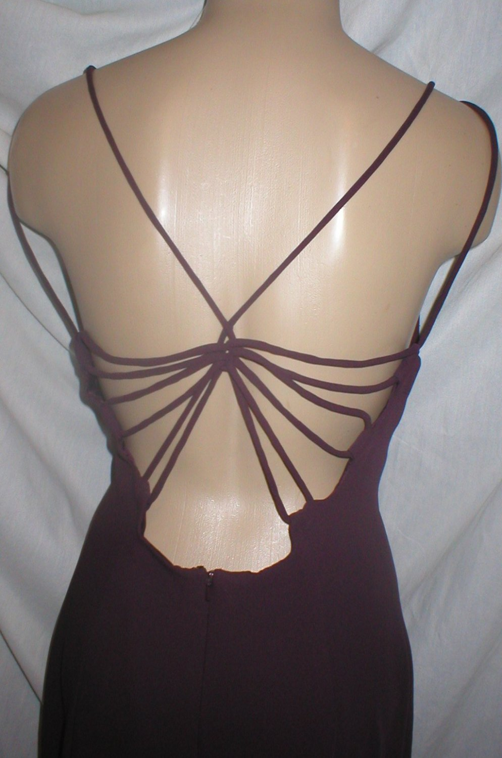 Ann Taylor Purple Long Backless Dress 10