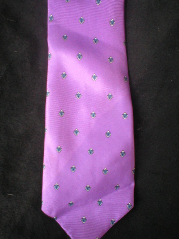Christian Dior Men's Lavender Print Silk Tie