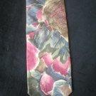 Bill Blass Men's Rose & Gray Print Silk Tie
