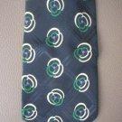 Ralph Lauren Polo Men's Black, Ivory,Green Print Silk Tie