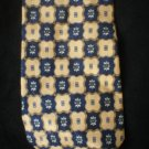 Geoffrey Beene Men's Blue & Yellow Print Silk Tie
