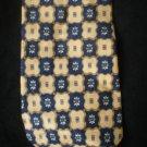 Geoffrey Beene Men's Blue & Yellow Print Silk Tie