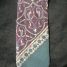 Christian Dior Men's Dark Purple, Gray & Teal Print Silk Tie